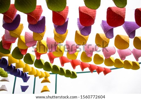 Wicker hand made from bamboo make it colorful, use to decorate beautiful place or decorate as to background #1560772604