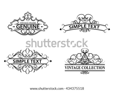 Floral calligraphic vintage frame with beautiful pattern. Elegant ...