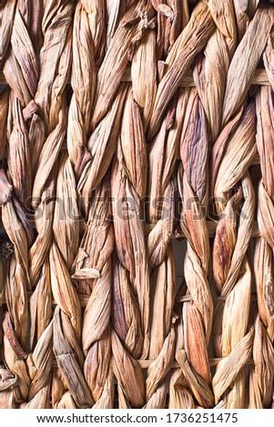 wicker or rattan basket texture. Background of basket surface. Pattern background. Wooden Vine Wicker straw Basket. handcraft weave texture natural wicker, texture basket, Natural rattan.