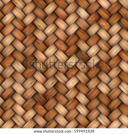Wicker rattan seamless texture for CG #599491838