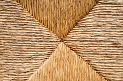 Wicker straw texture close up background