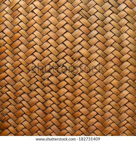 Wicker Woven Basket Texture Basket Texture - stock photo