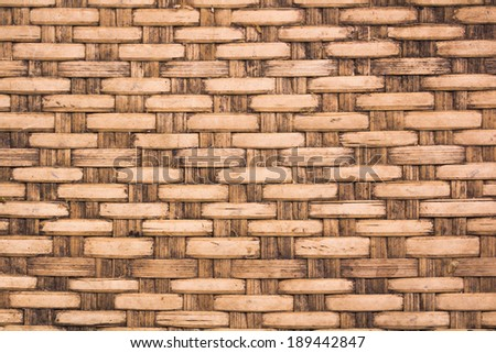 wicker woven rattan pattern  close up background