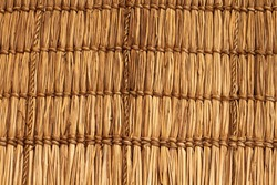 Wickerwork texture background. Antique wickerwork pattern used for vegetable roofs. Close up
