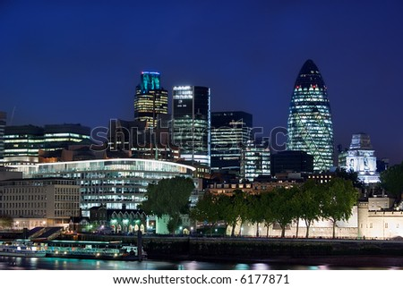 wide angle view of the city of london