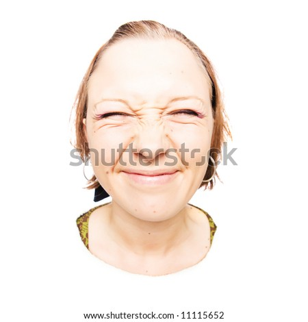 funny girl. wide angled funny girl.