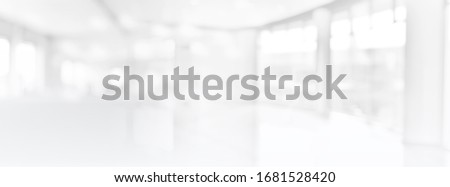 Wide Blurred Empty Abstract Building Pathway Background From Perspective Building Hallway for banner background, way go to success concept