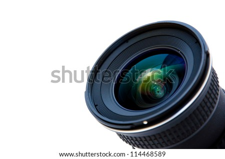 Wide camera lens - stock photo