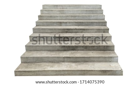 wide concrete staircase. isolated on white background Сток-фото ©