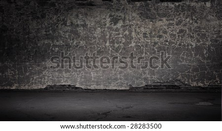 Wide grunge vintage background, gray version