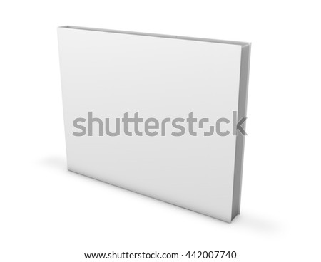 Shutterstock Wide horizontal orientation book mock up empty cover 3d rendering.