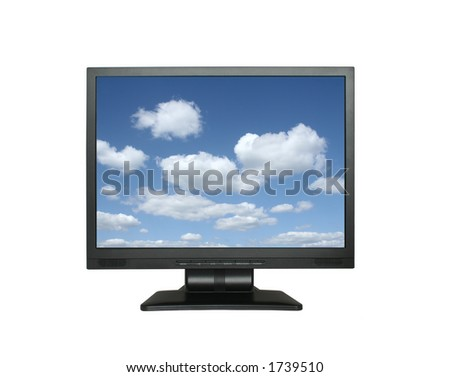 wide lcd with gorgeous sky