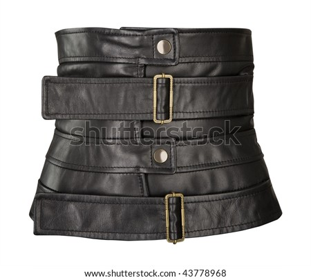 wide leather black belt