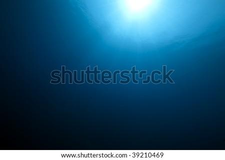 wide ocean and sun