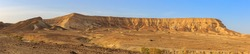 Wide panorama of big mountains in a Negev desert, near Dead Sea, Israel