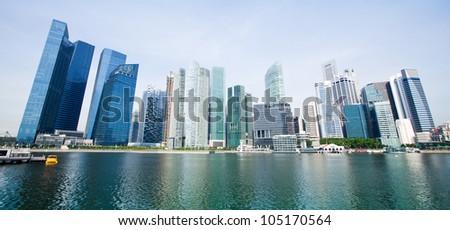 Wide Panorama of Singapore.