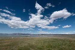 Wide plain over California landscape