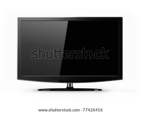 Wide screen flat HD tv