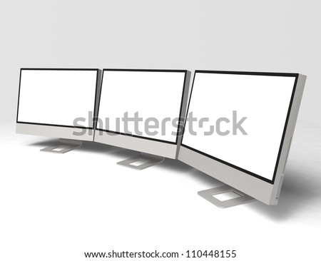 wide screen LCD monitor with blank  space