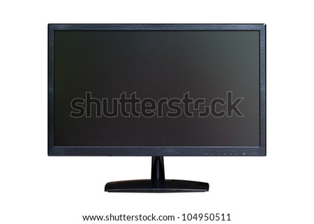 wide screen LED monitor isolated with clipping path