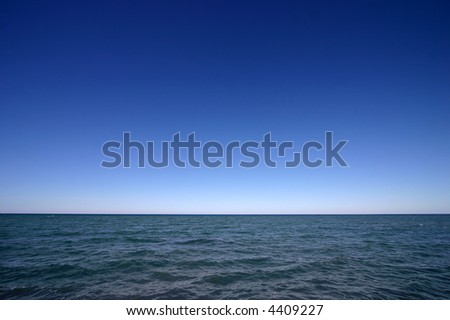 Wide shot of open ocean