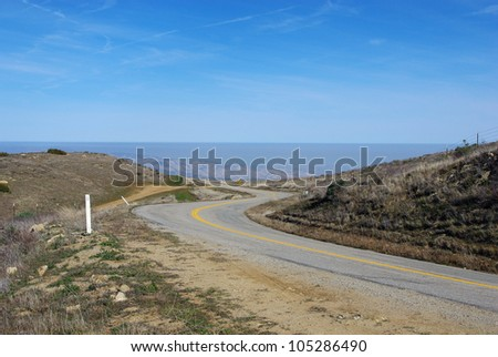 Wide view from Cerro Noroeste Road, Los Padres National Forest, California