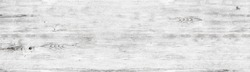 Wide white wood texture. Whitewashed wooden surface panorama. Shabby chic panoramic background