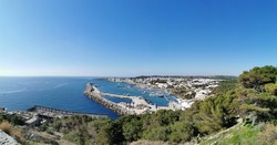 wideangle de finibus terrae Santa Maria di Leuca's Port Sunny day sea