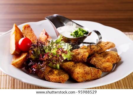 Wiener Schnitzel with grilled potato salad