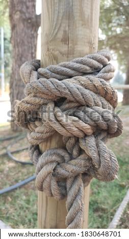 Wierd rope knot close up Stok fotoğraf ©