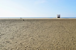 wiew from tne beach at narbonne plage ,france