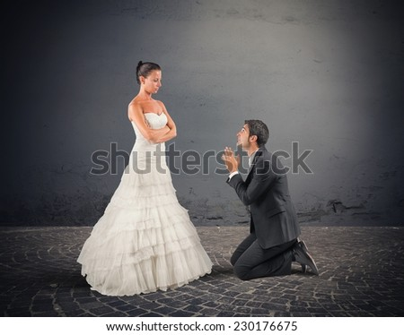 Wife forgives her husband at their wedding