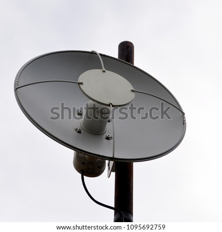 WiFi Parabolic Dish Outdoor Antenna Images and Stock Photos