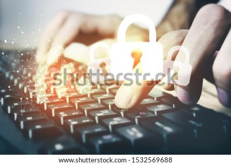 WiFi password lock, protection, security icon #1532569688