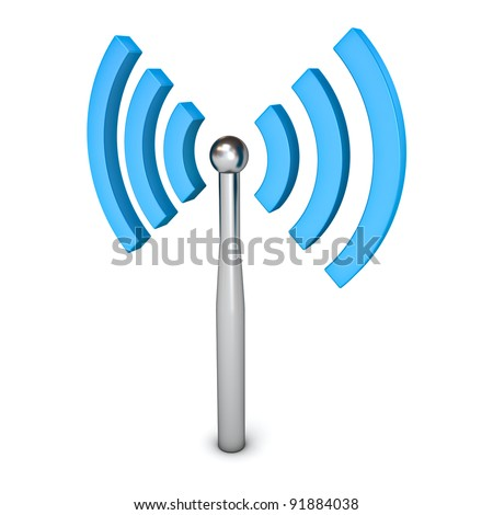 Wifi wireless symbol icon isolated on white background