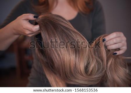 Wigs, hair. Womens beauty concept ストックフォト ©