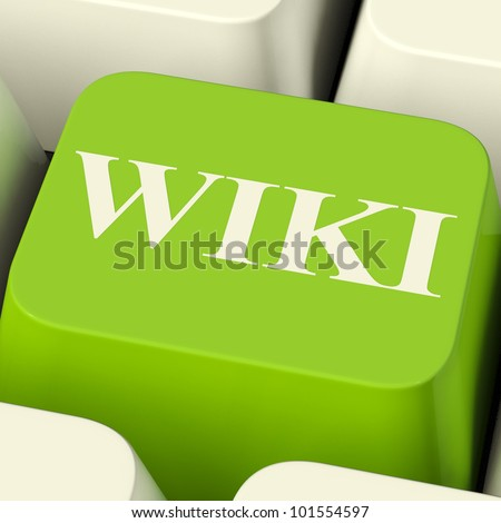 Wiki Computer Key For Online Information Or Encyclopedias