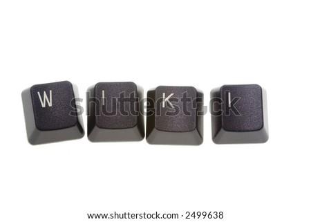 WIKI formed by keys of a computer keyboard
