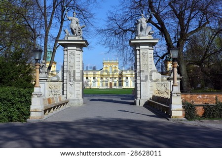 Wilanow Palace in Warsaw, Poland. Old residence of magnates. There is part of National Museum today.