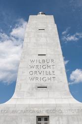 Wilbur & Orville Wright Memorial in Kitty Hawk, North Carolina, USA.