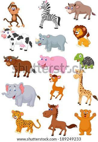 Wild animal cartoon collection  #189249233