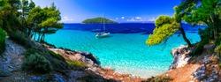 Wild beauty and best beaches of Skopelos island. Kastani beach.