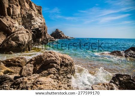 Wild coast in Costa Brava. #277599170