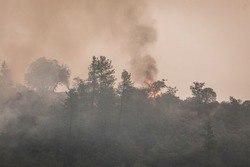Wild fires near highway 62 in Eagle Point Oregon, September 9 2020