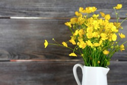 Wild flowers in a vase, bouquet