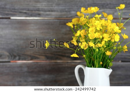Wild flowers in a vase, bouquet