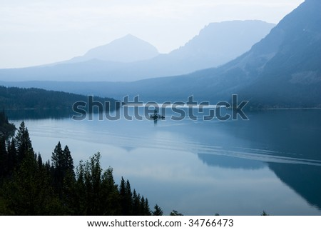 Wild Goose Island on Saint Mary Lake in Glacier National Park