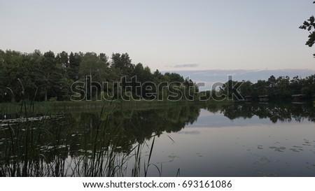 Wild lake on afternoon Zdjęcia stock ©