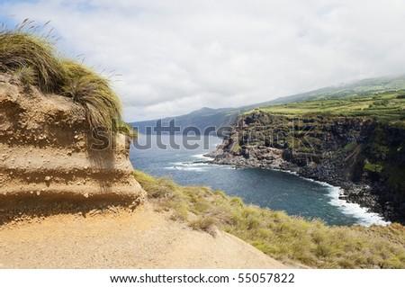 Wild landscape in Faial island, Azores, Portugal