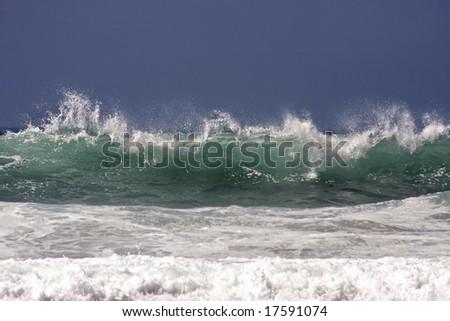 Wild Ocean wave at the atlantic ocean in Portugal
